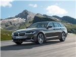 BMW 5 series - BMW 5-Series Touring 2021 вид спереди