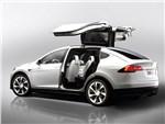 Tesla Motors Model X - Tesla Model X 2017 вид сбоку