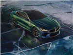 BMW M8 Gran Coupe Concept 2018 вид спереди сверху