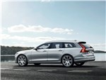 Volvo V90 Estate 2017 вид сбоку сзади