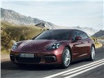 Porsche Panamera Sport Turismo 2018 вид спереди сбоку