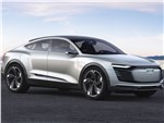 Audi e-tron Sportback Concept 2017 вид спереди сбоку