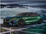 BMW M8 Gran Coupe Concept 2018 вид спереди сбоку