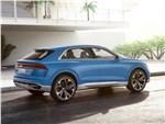 Audi Q8 concept 2017 вид сбоку сзади