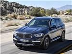 BMW X3 - BMW X3 2018 вид спереди сверху