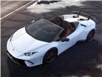 Lamborghini Huracan Performante Spyder 2019 вид спереди сверху