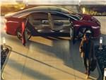 Volkswagen ID Vizzion Concept 2018 вид сбоку с открытыми дверями