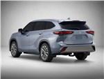 Toyota Highlander 2020 вид сбоку сзади