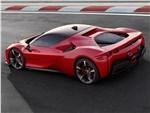 Ferrari SF90 - Ferrari SF90 Stradale 2020 вид сбоку сзади