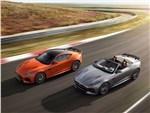 Jaguar F-Type SVR 2016 вид сверху сбоку