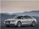 Audi A8 2014 вид спереди 3/4
