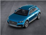 Audi Allroad Shooting Brake Concept 2014 вид спереди сверху
