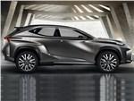 Lexus LF-NX концепт 2013 вид сбоку