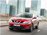 Nissan Qashqai 2013 вид спереди красный