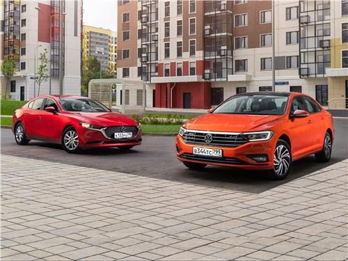 Mazda 3, Volkswagen Jetta - сравнительный тест mazda 3 (2019) и volkswagen jetta (2019) национальные особенности