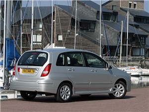 На стыке жанров (Chrysler PT Cruiser, Seat Altea, Suzuki Liana, Volkswagen Golf Plus) Liana - Suzuki Liana хэтчбек 2004 вид сзади справа