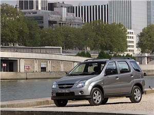 Промежуточное звено (Fiat Panda, Suzuki Ignis, Suzuki Liana, Subaru Impreza) Ignis - Suzuki Ignis 2004 вид спереди слева фото 3