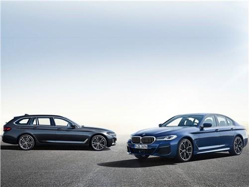 От большого к большему: Volvo S60, BMW 5, Mercedes S-класс, Audi A8, Porsche Panamera 5 series - BMW 5-Series 2021 вид спереди