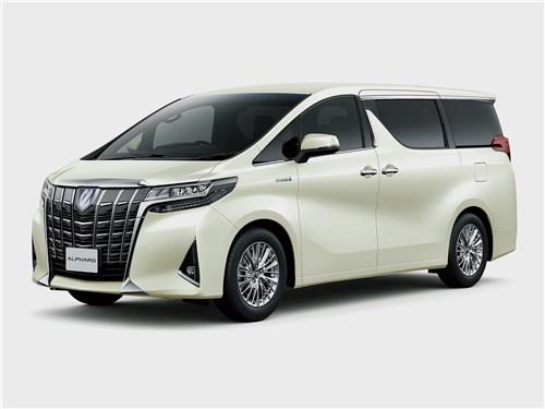 Toyota Alphard 2018 вид спереди