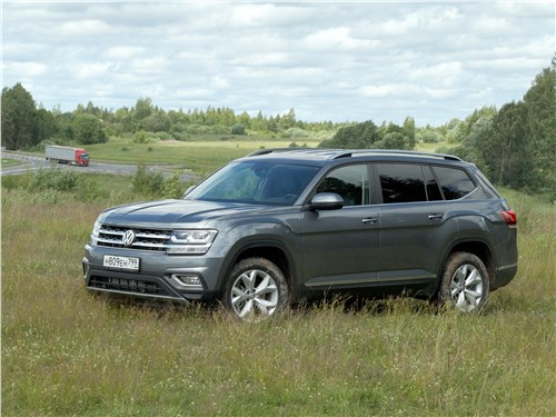 Volkswagen Teramont 2018 вид спереди сбоку