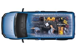 Предпросмотр ford tourneo connect 2008 рентген кузова при двух сложенных сиденьях