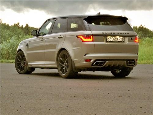 Land Rover Range Rover Sport SVR (2018) вид сзади