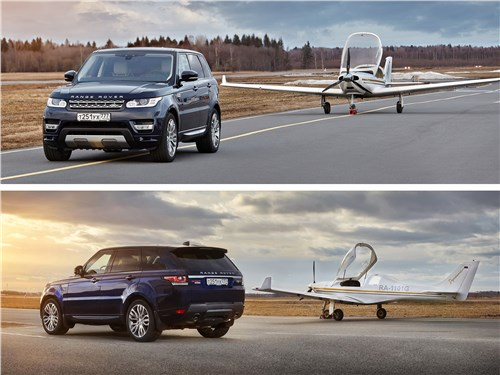 Предпросмотр land rover range rover sport 2017 на аэродроме