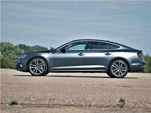 Audi A5 Sportback 2020 вид сбоку