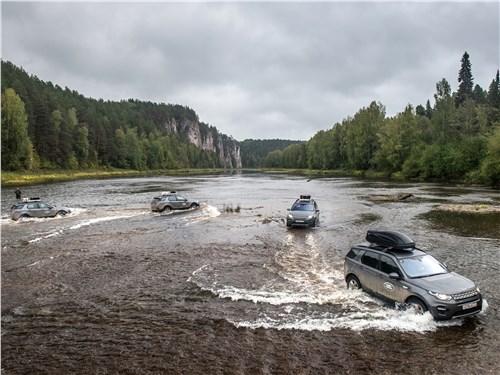 Предпросмотр land rover discovery sport 2015 переправа через реку