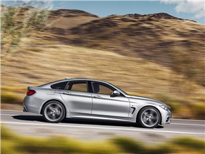 BMW 4 Series Gran Coupe 2014 вид сбоку фото 2