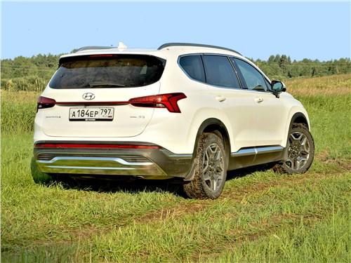 Hyundai Santa Fe (2021) вид сзади