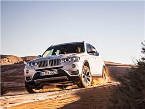 BMW X3 2014 вид спереди фото 3