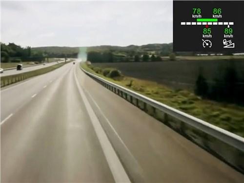 На магистральном тягаче Scania с помощью круиз-контроля можно задать оптимальный диапазон скоростей