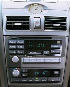 Предпросмотр infiniti i30 2001 панели управления аудиосистемой и микроклиматом в салоне