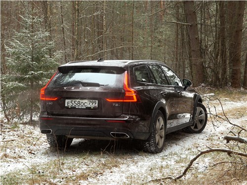Volvo V60 Cross Country 2019 вид сзади