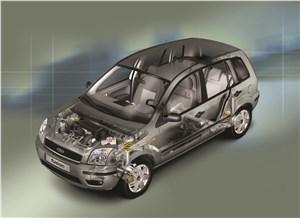 Предпросмотр ford fusion 2002 рентген кузова спереди