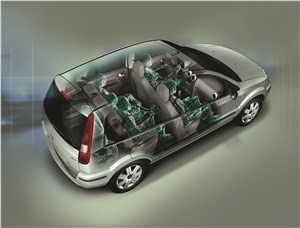 Предпросмотр ford fusion 2002 рентген кузова сзади