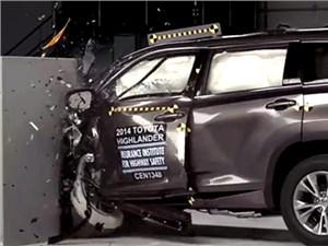 Автомобиль Toyota Highlander нового поколения успешно выполнил все краш-тесты IIHS