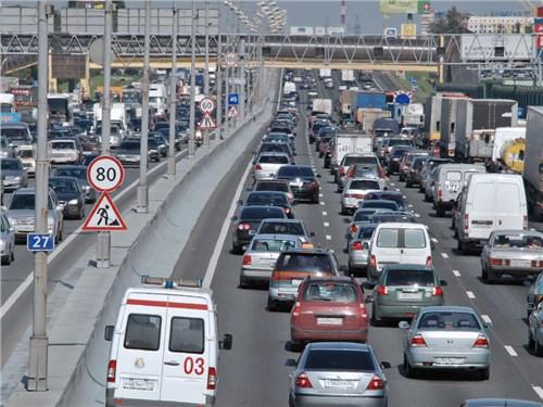 На московских дорогах стало на 350 тысяч автомобилей меньше