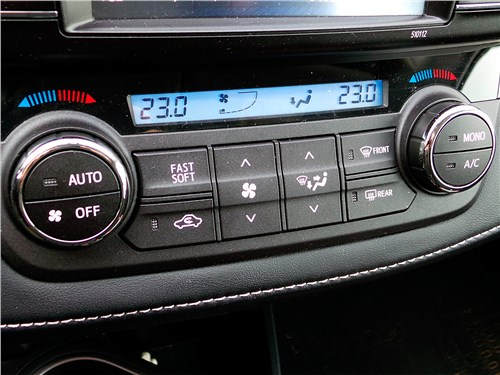 Toyota RAV4 2016 система климат-контроля