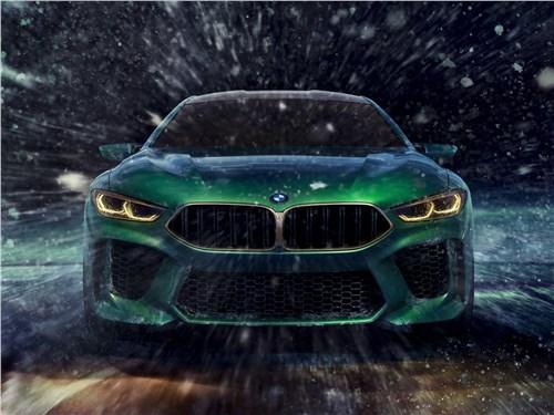 Предпросмотр bmw m8 gran coupe concept 2018 вид спереди