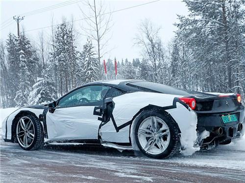 Гибридный спорткар Ferrari покоряет заснеженную Швецию