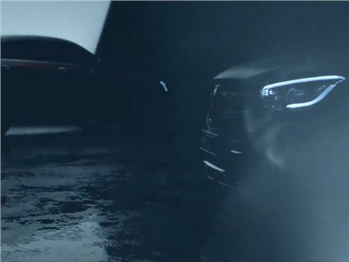Новость про Mercedes-Benz GLC Coupe - Mercedes-Benz показал тизер обновленного GLC Coupe