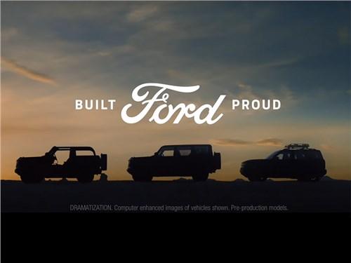 Ford показал три версии внедорожника Bronco и анонсировал суббренд