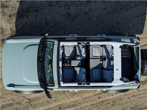 Предпросмотр ford bronco 4-door (2021) вид сверху