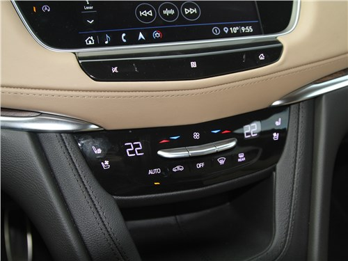 Cadillac XT5 2020 управление «климатом»