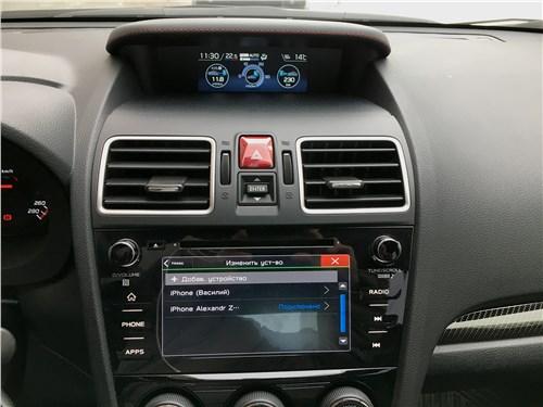 Subaru WRX Sport (2018) центральная консоль
