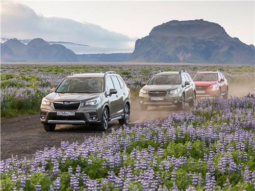 Subaru Forester, Subaru Outback, Subaru XV - subaru. меж гейзерами и вулканами