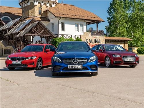 Audi A4 - сравнительный тест птица-тройка по-немецки: драйверский bmw 3 series, комфортабельный mercedes-benz c-class или рассудительный audi a4?