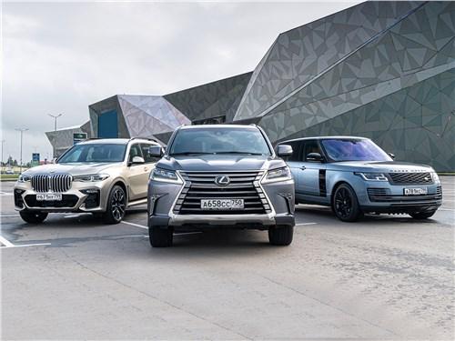 Land Rover Range Rover - сравнительный тест. если не мелочиться: в схватке за звание царя горы сошлись «технарь» bmw x7, брутальный lexus lx и «аристократ» range rover